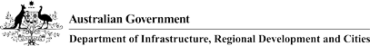 Department of Infrastructure and Regional Development print logo